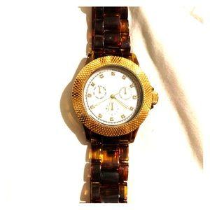 Tortoise shell watch